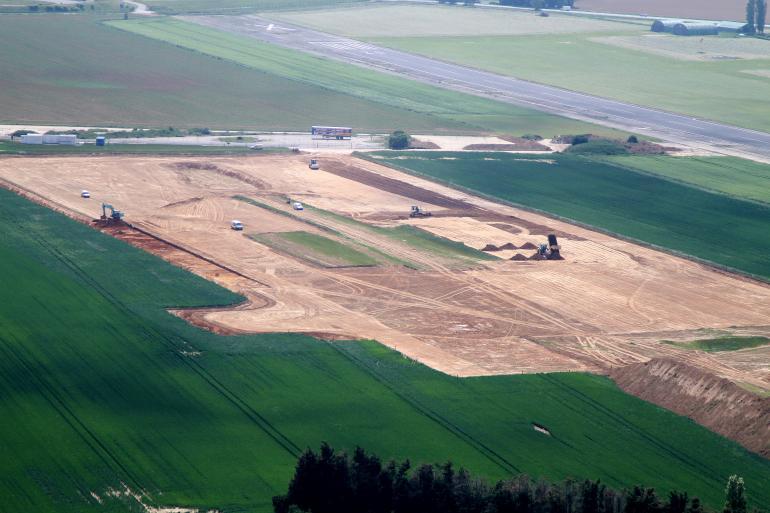 Le chantier de la ferme des mille vaches (Novissen).